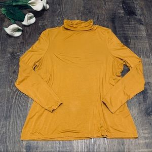 Dress Barn Mustard Turtleneck Knit Top